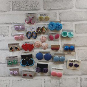 NEW 22 pairs of colorful earrings lot